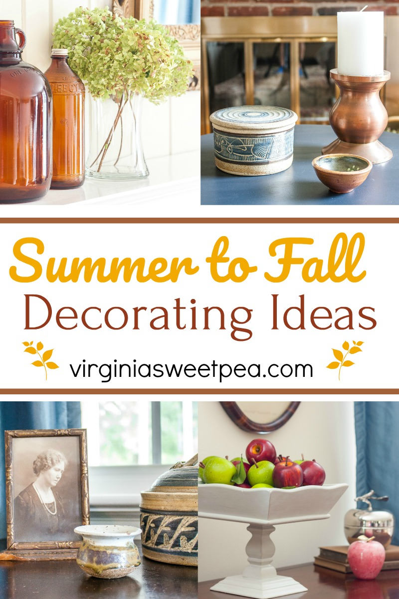 Summer to Fall Transitional Decor Ideas - Get ideas to use for transitioning your home decor from summer to fall. #summertofalldecoratingideas #falldecoratingideas #falldecorideas via @spaula
