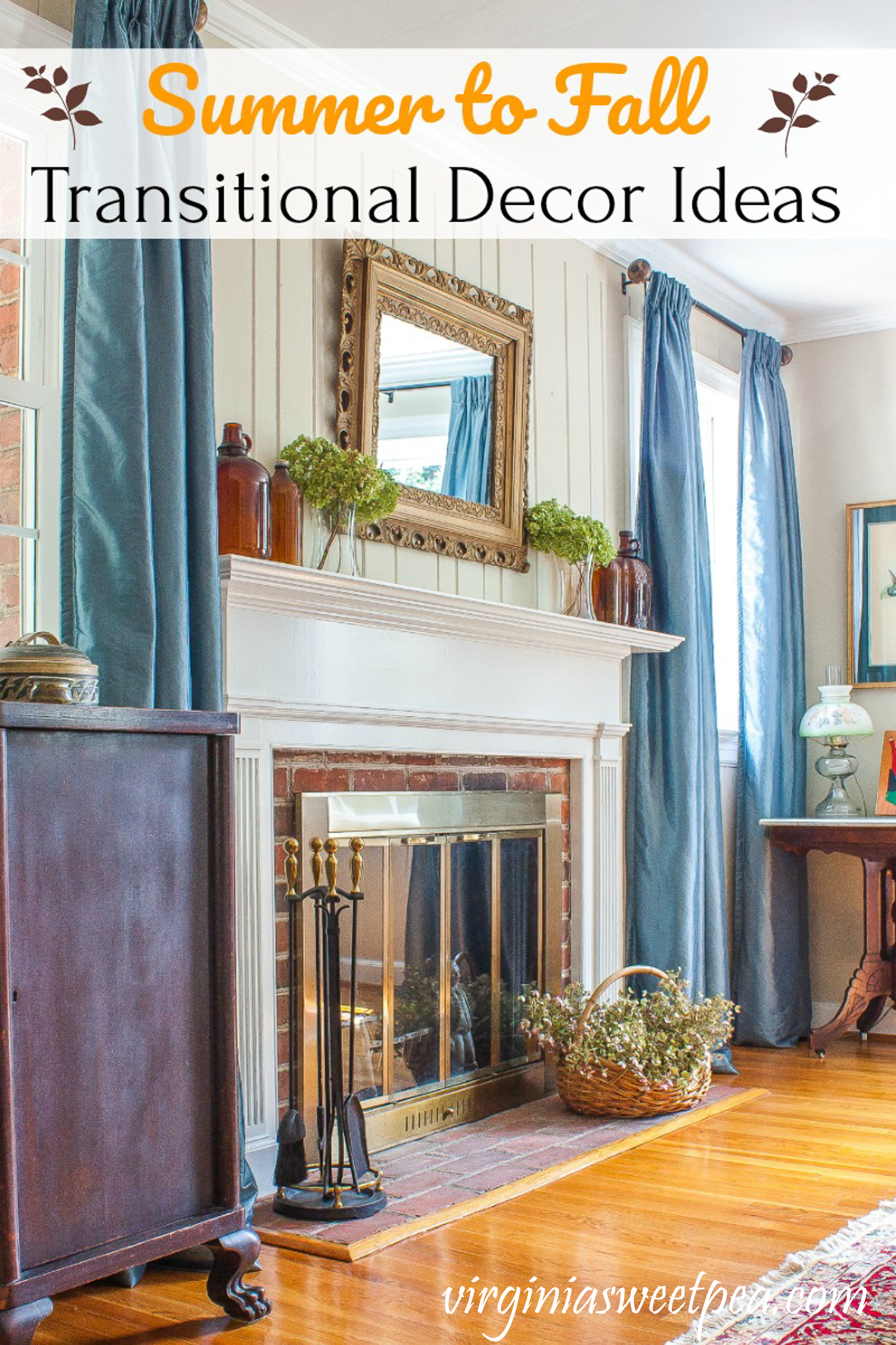 Ideas for transitioning decor from summer to fall.