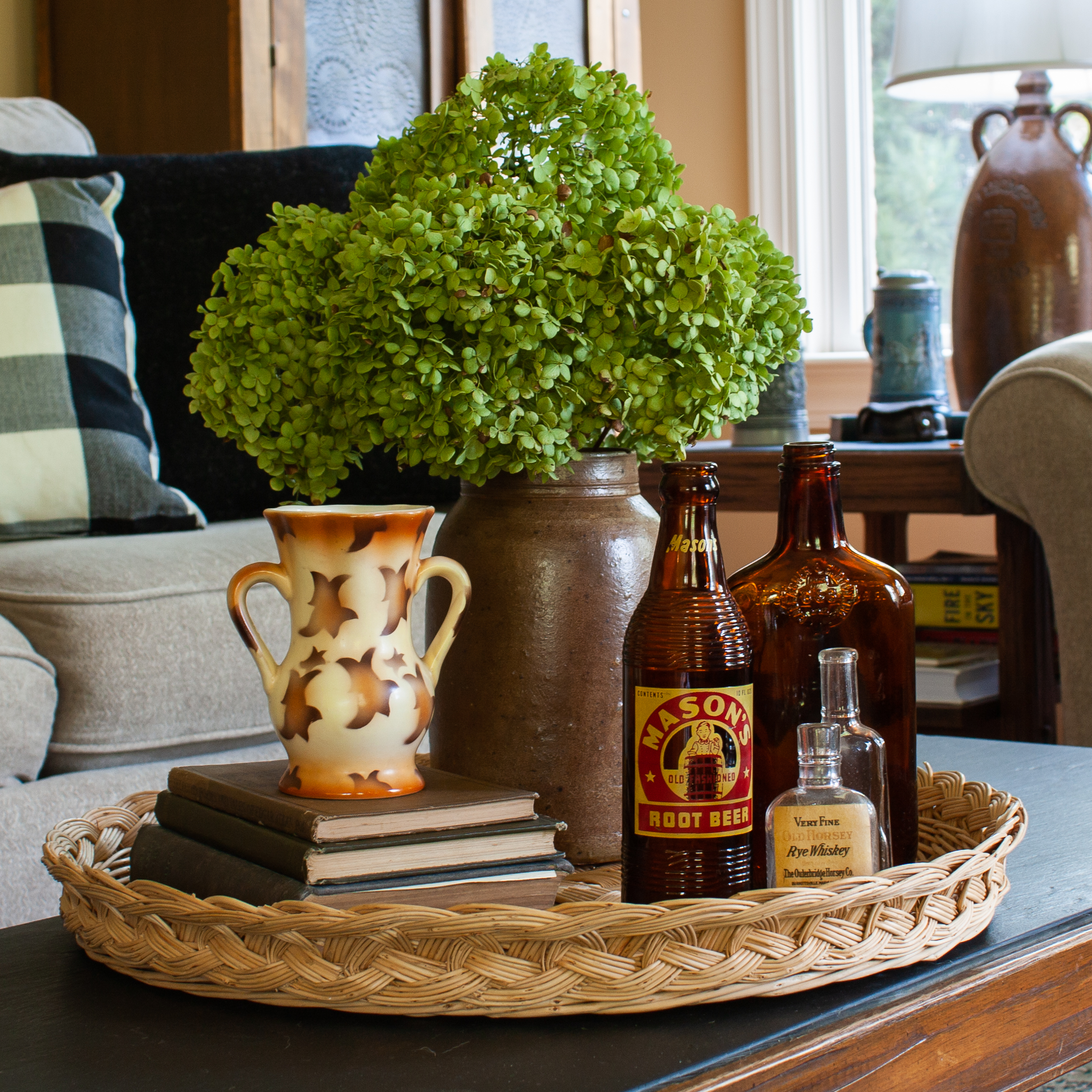 Early Fall Coffee Table Vignette