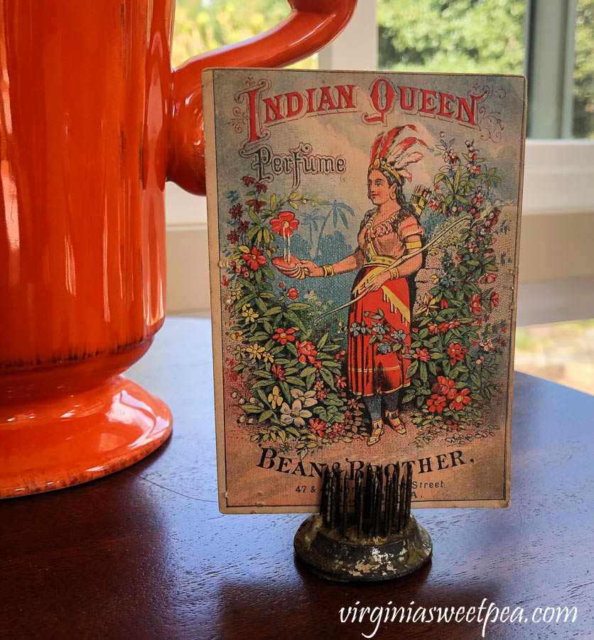 Bean Brother Indian Queen Perfume Advertisement Card