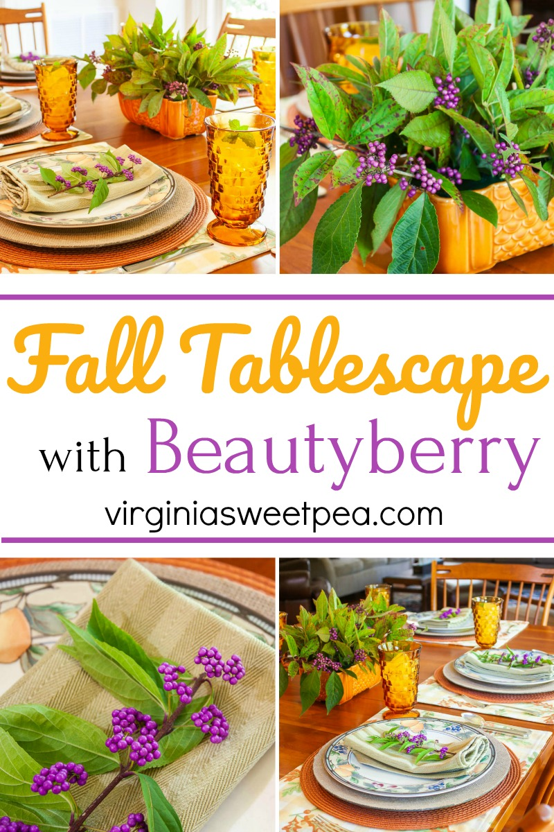 Fall Tablescape with Beautyberry