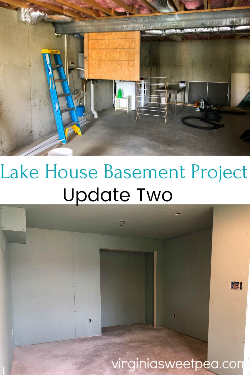 Lake House Basement Project Update Two