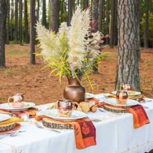 Lakeside Woodland Fall Tablescape at Smith Mountain Lake, VA