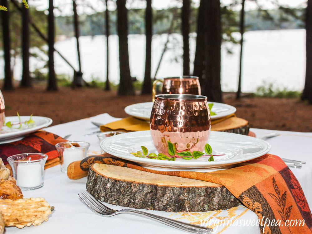 Lakeside Woodland Fall Tablescape