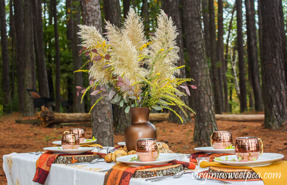 Fall Tablescape at Smith Mountain Lake State Park in Virginia