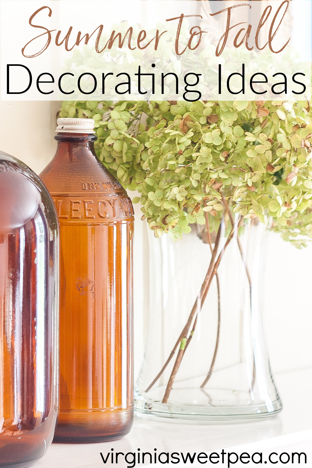 Summer to Fall Decorating Ideas - Get great ideas to use for transitioning your home decor from summer to fall. #summertofalldecoratingideas #falldecoratingideas #falldecorideas via @spaula