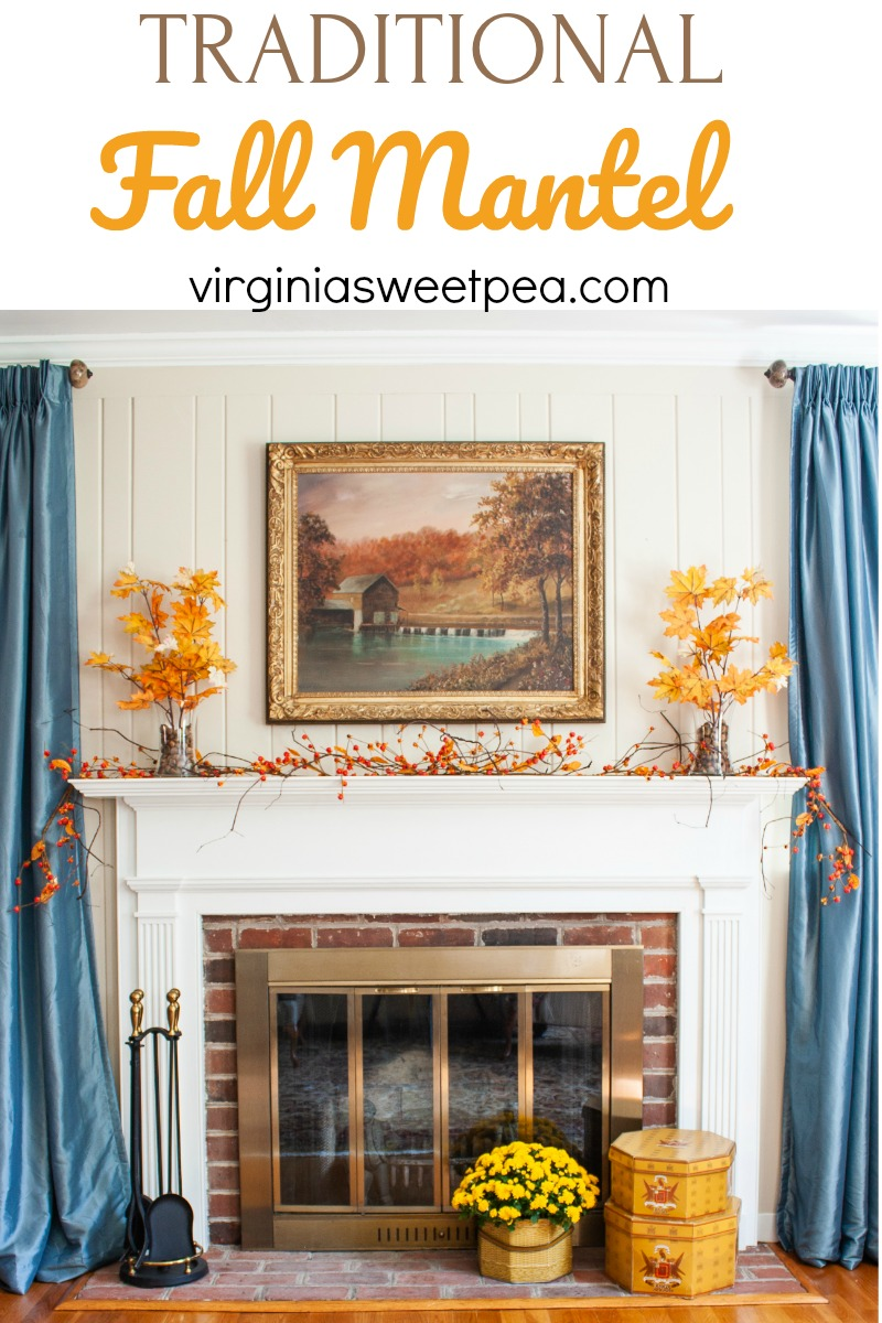 Traditional Fall Mantel Sweet Pea