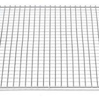 "Professional Cross Wire Cooling Rack Half Sheet Pan Grate - 16-1/2"" x 12"" Drip Screen 2 Pack"