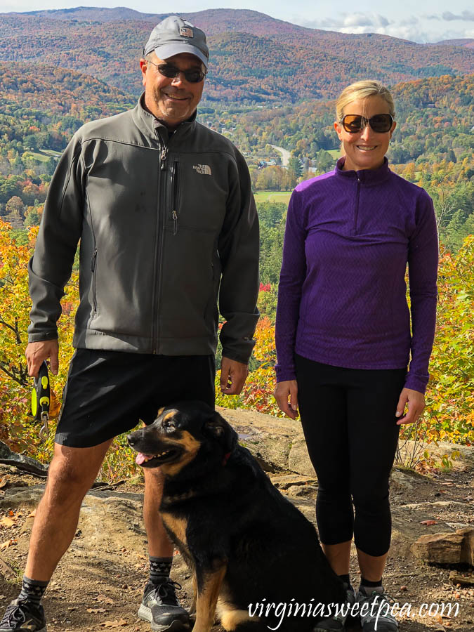 Paula and David Skulina on the Summit of Mt. Tom in Woodstock, Vermont