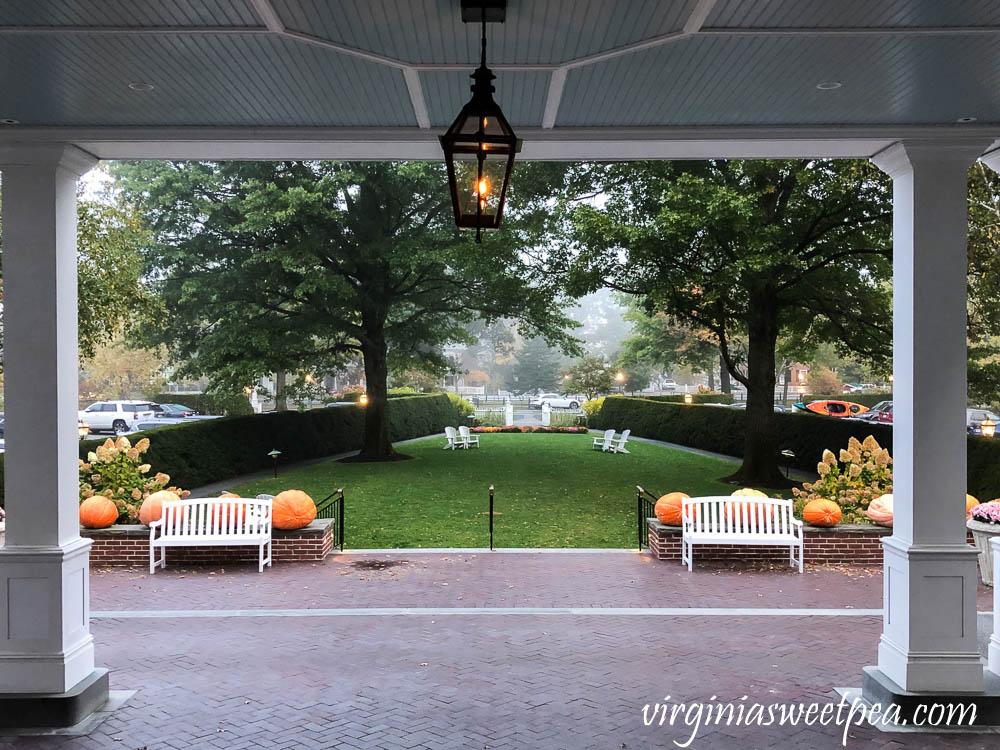 View from the front door of the Woodstock Inn in Vermont