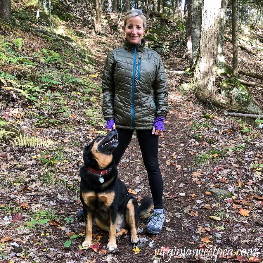 Sherman and Paula Skulina hiking on Mt. Tom in Woodstock, Vermont