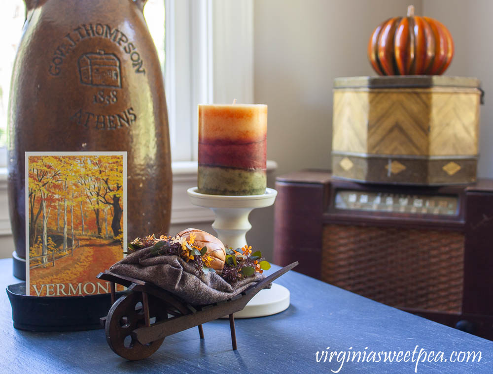Vermont themed fall vignette
