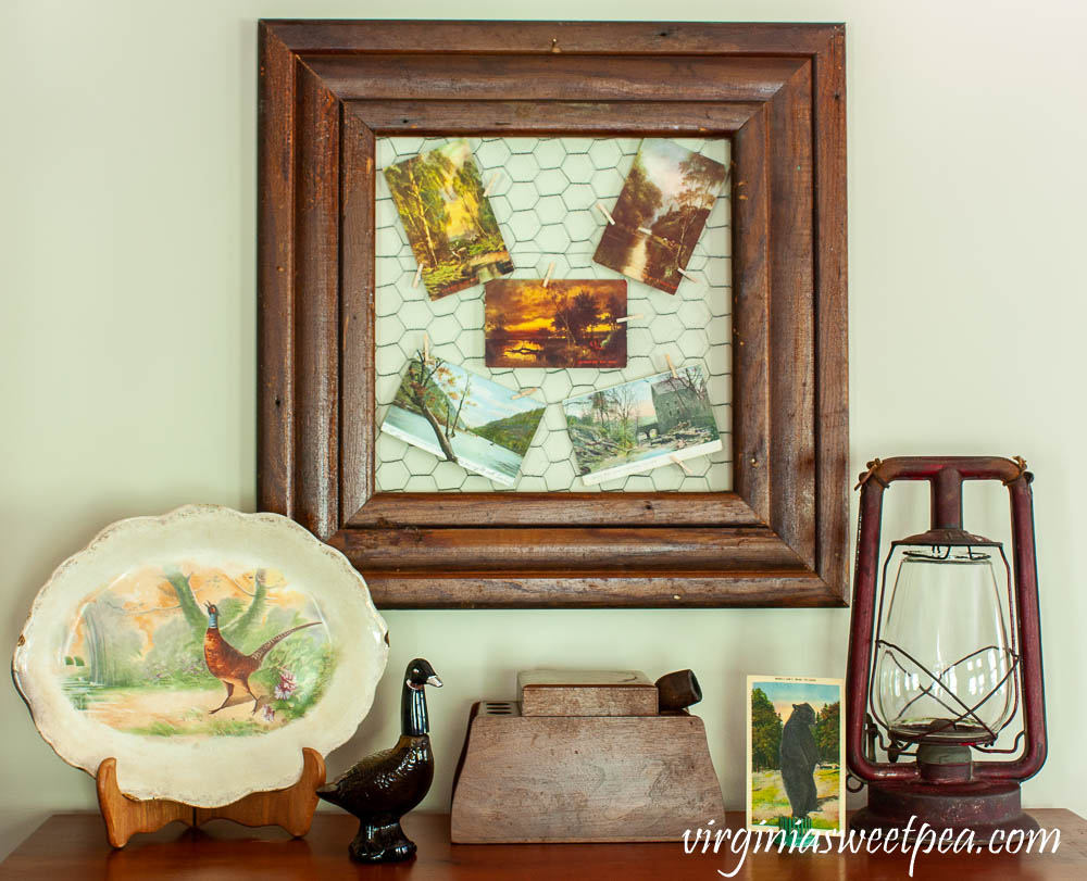 Fall Decor with a Vintage Hunting Theme