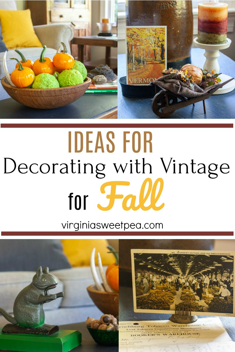 Ideas for Decorating with Vintage for Fall