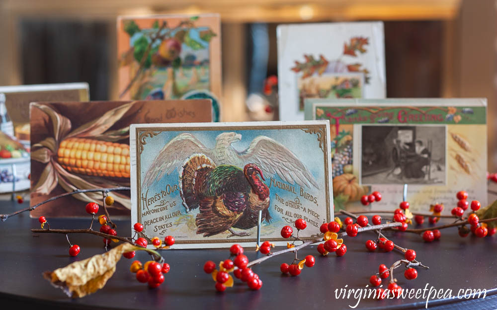 A collection of vintage Thanksgiving postcards dating from 1909 to 1917.