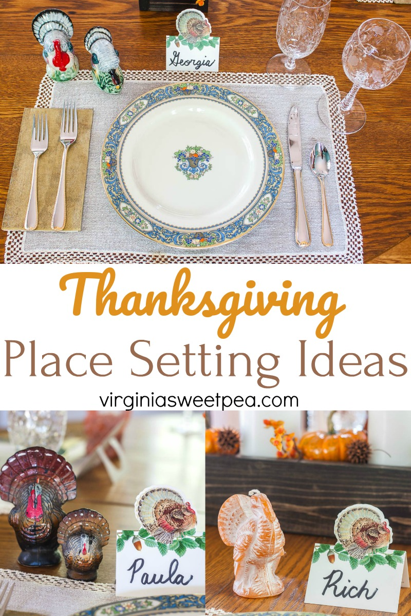 Thanksgiving Place Setting Ideas from 14 Bloggers - Get inspired for setting your Thanksgiving table with ideas from 14 home decor bloggers.  #thanksgiving #thanksgivingtable #thanksgivingtablescape via @spaula