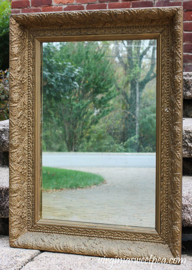 Antique Mirror with detailed frame
