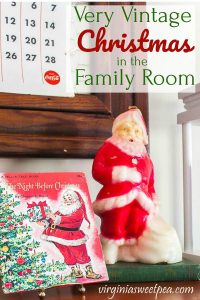 Vintage Santa Candle and Vintage Night Before Christmas Book