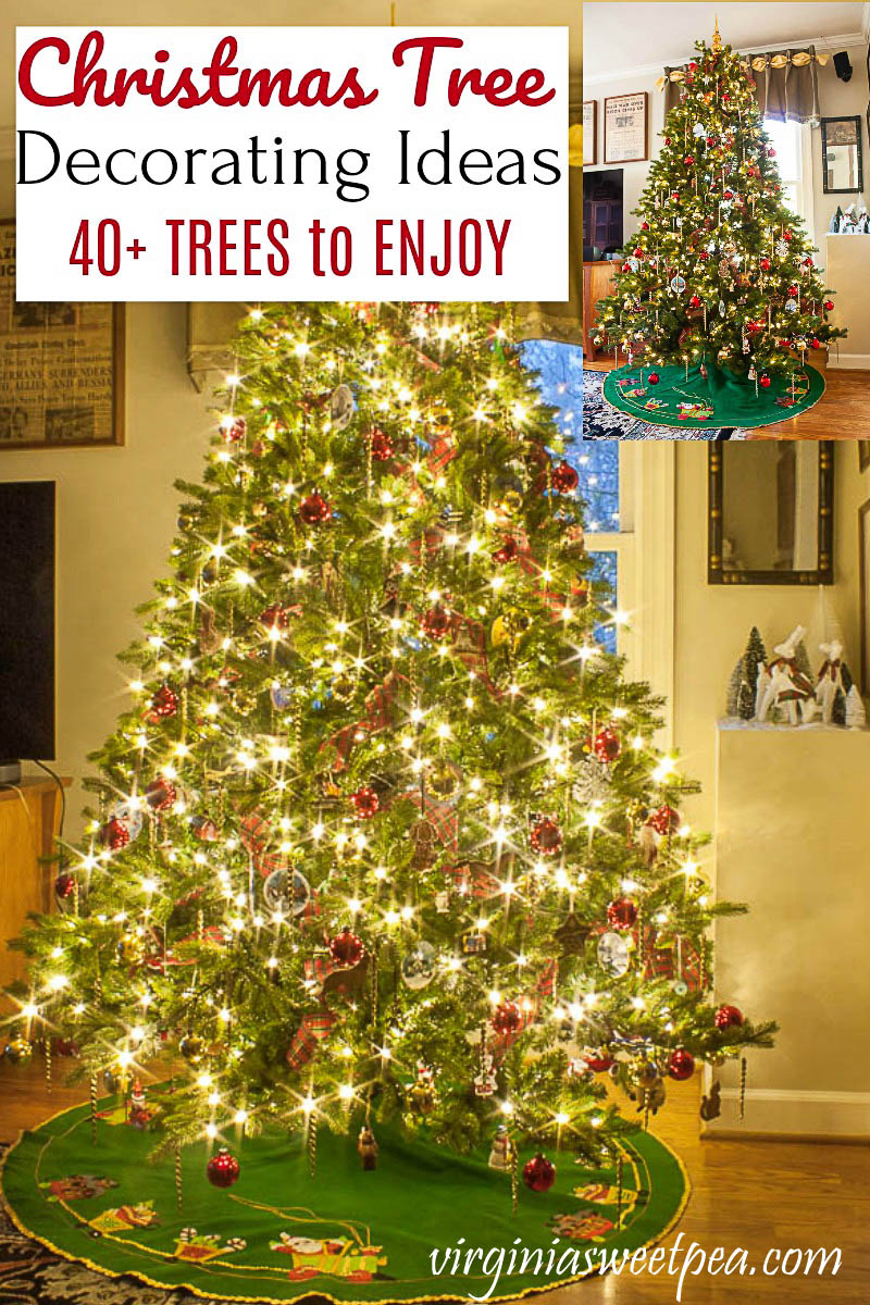 Christmas Tree Decorating Ideas - Get ideas for decorating your Christmas tree from 41 home decor bloggers who share trees decorated in a wide variety of styles. #christmastree #christmastreedecor #christmastreebloghop #christmastreedecorating #christmastreedecoratingideas #christmastreeideas #virginiasweetpea