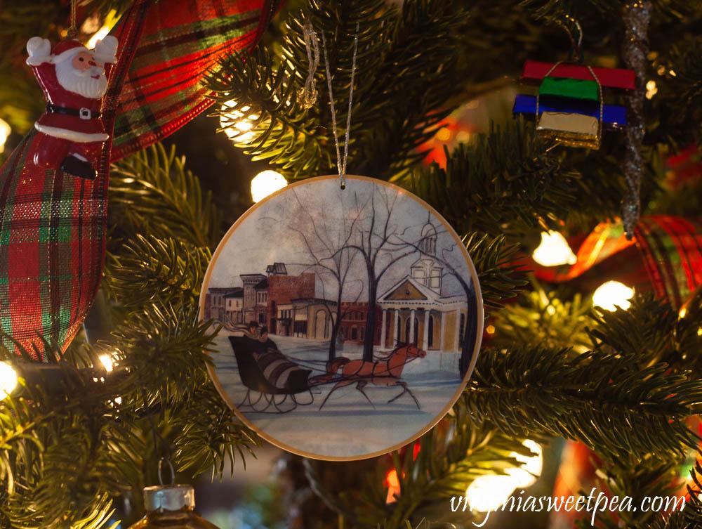 P Buckley Moss Christmas Tree Ornament