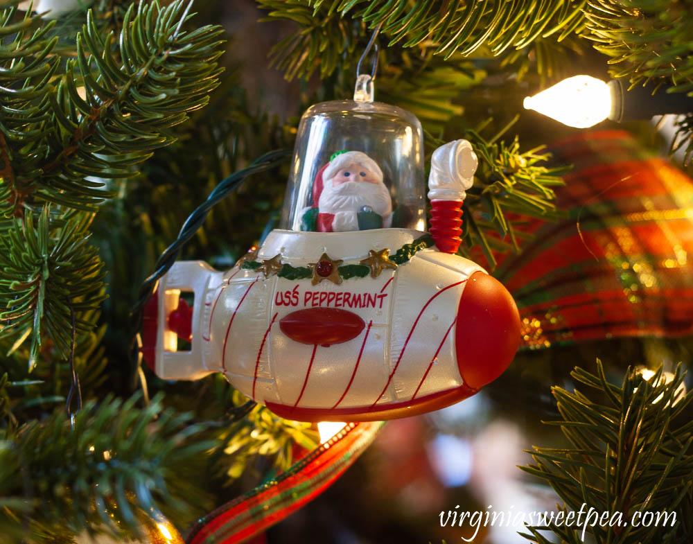 USS Peppermint Hallmark Christmas Ornament