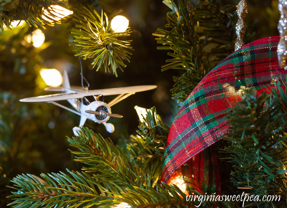 Hallmark Airplane Christmas Tree Ornament