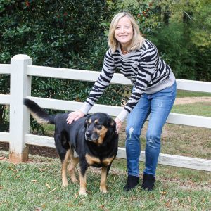 Stitch Fix Review for November 2019 - Design History Litha Crewneck Pullover and Vigoss Elaine Distressed Girlfriend Jean-4