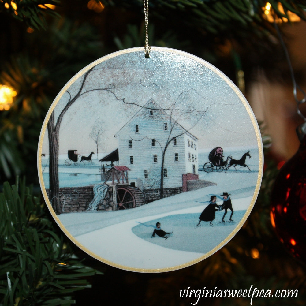 P. Buckley Moss Christmas Ornament