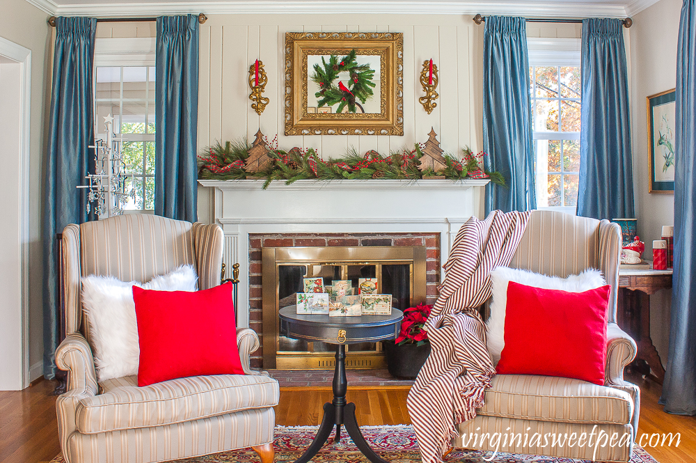 A Very Vintage Christmas in the Formal Living Room