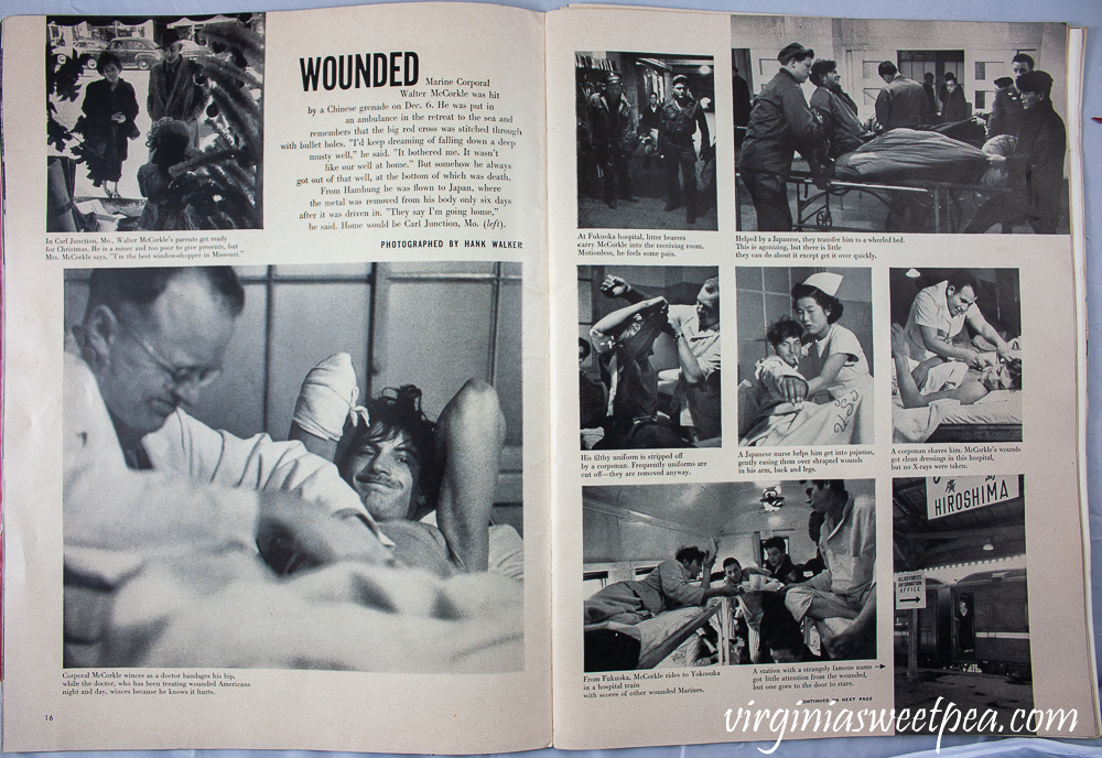 Article in Life Magazine December 25, 1950 on wounded Marine Corporal Walter McCorkle