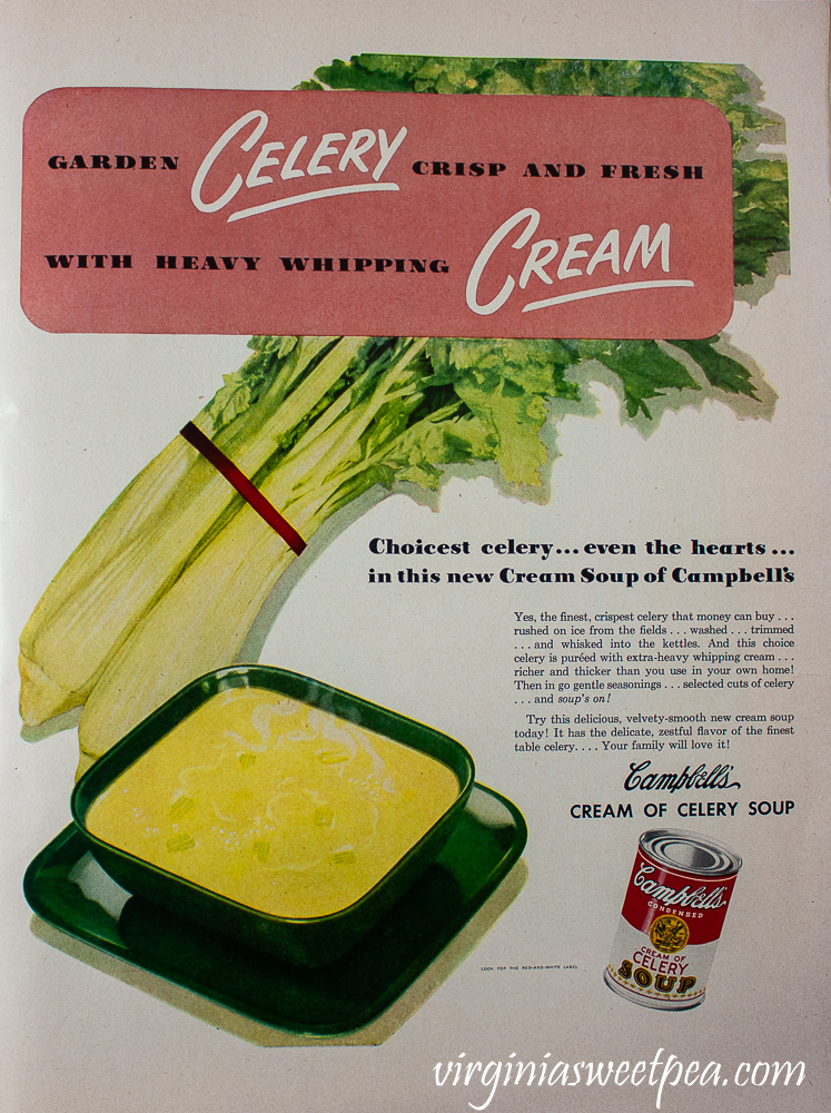 Campbell's Soup ad for Cream of Celery Soup found in a December 25, 1950 Life Magazine