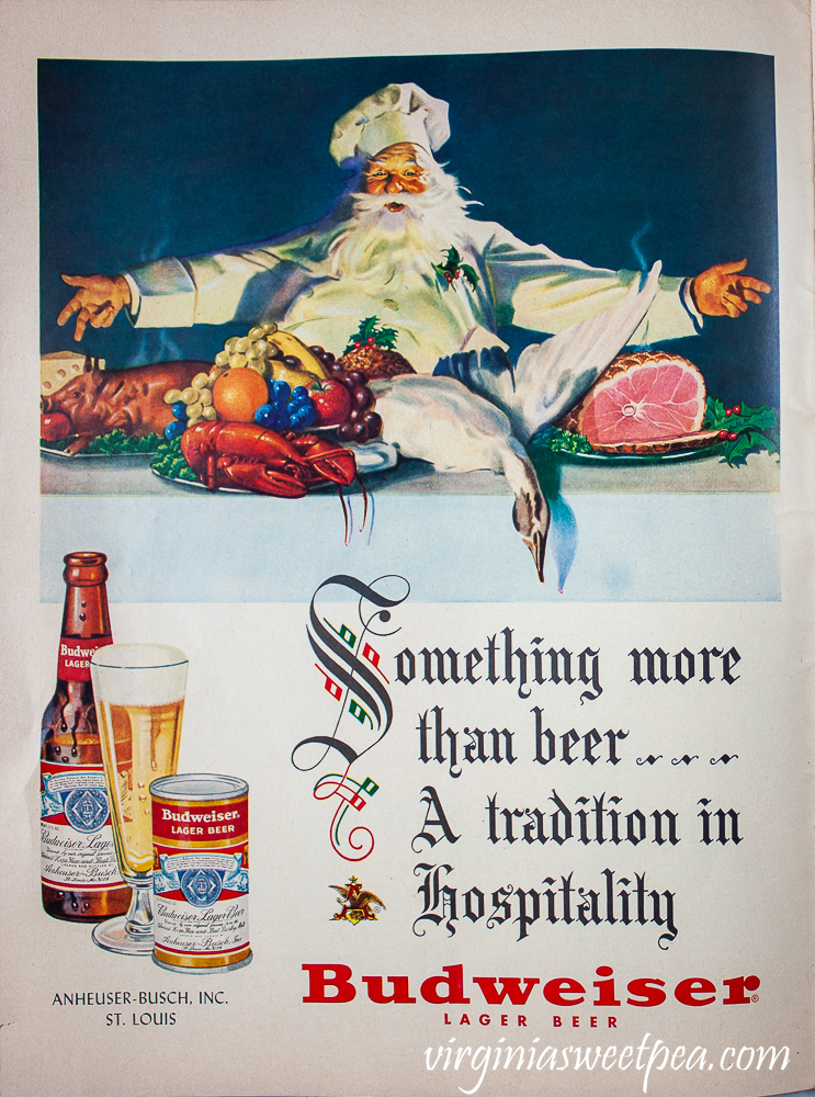 Budweiser ad found in a December 25, 1950 Life Magazine