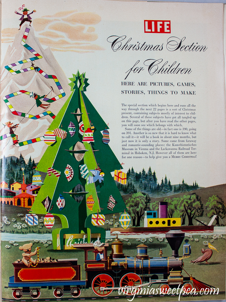 Christmas Section for Children in Life Magazine December 25, 1950