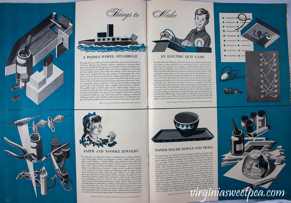 Things to Make for kids article in Life Magazine December 25, 1950