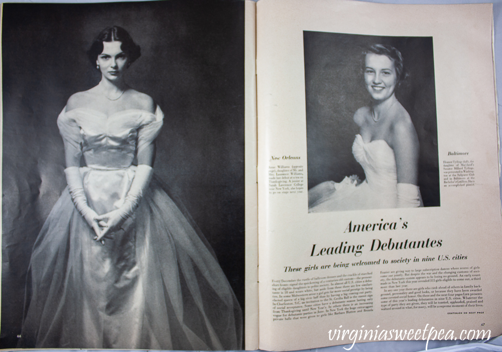 America's Leading Debutants article from Life Magazine December 25, 1950 article - New Orleans and Baltimore