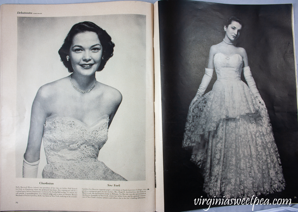 December 25, 1950 Life Magazine - America's Leading Debutants - Charleston and New York