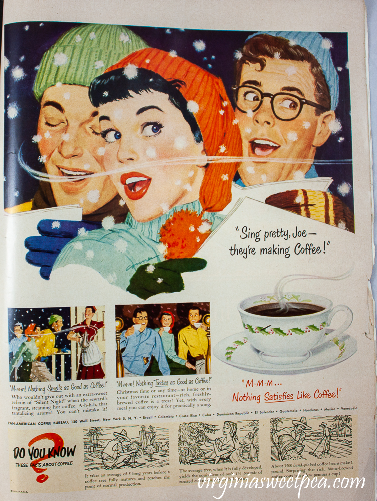 Coffee ad from Pan-American Coffee Bureau in a 1950 December 25 issue of Life Magazine