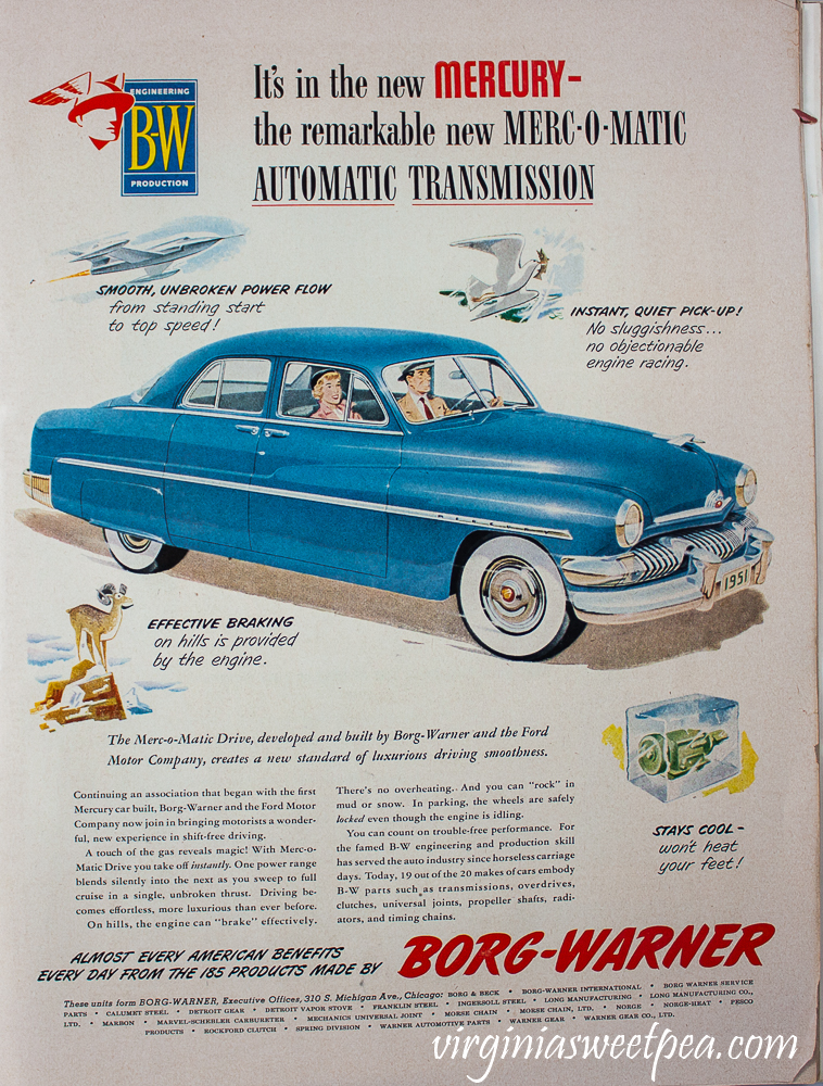 Ad from December 25, 1950 Life Magazine for Mercury Merc-O-Matic Automatic Transmission