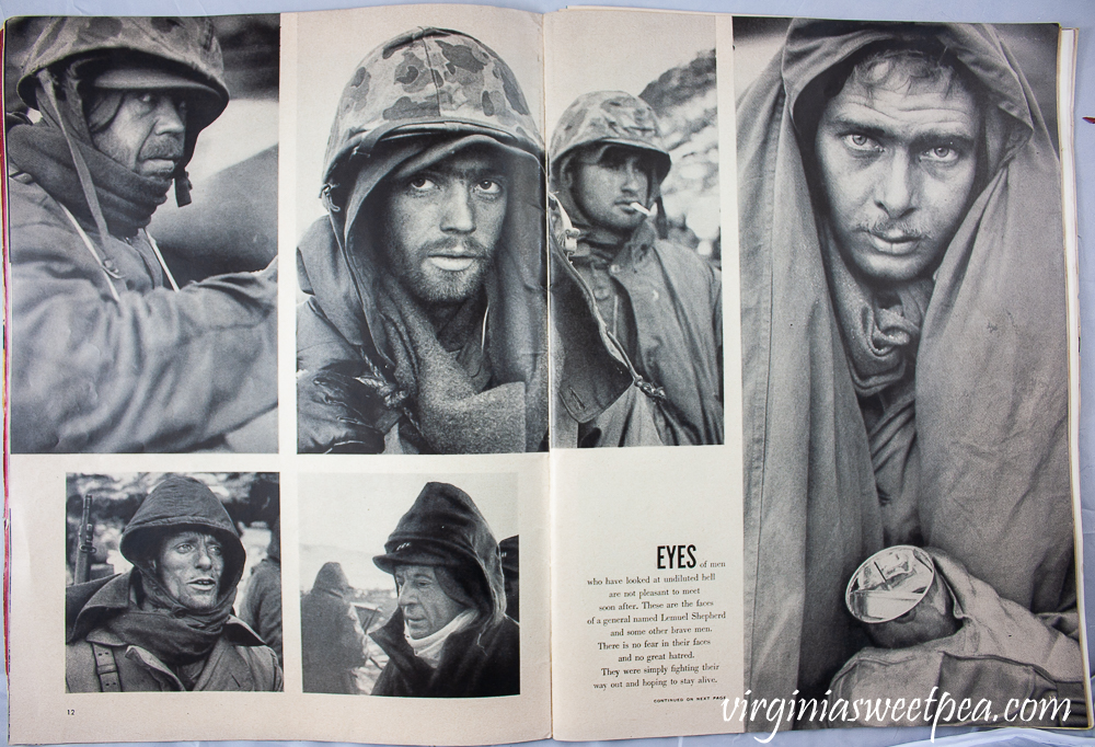 Pictures of soldiers in the Korean War including General Lemuel Shepherd from Life Magazine December 25, 1950 issure