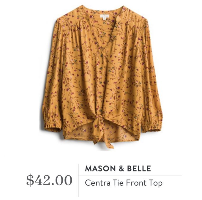 Mason & Belle Centra Tie Front Top