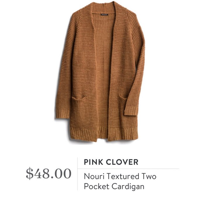 Pink Clover Nouri Textured Two Pocket Cardigan