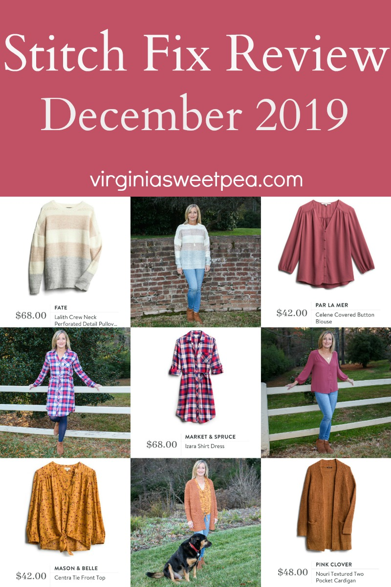 Stitch Fix Review for December 2019 - See the styles picked to try for December. #stitchfix #stitchfixreview #stitchfixstyle #fashionover40