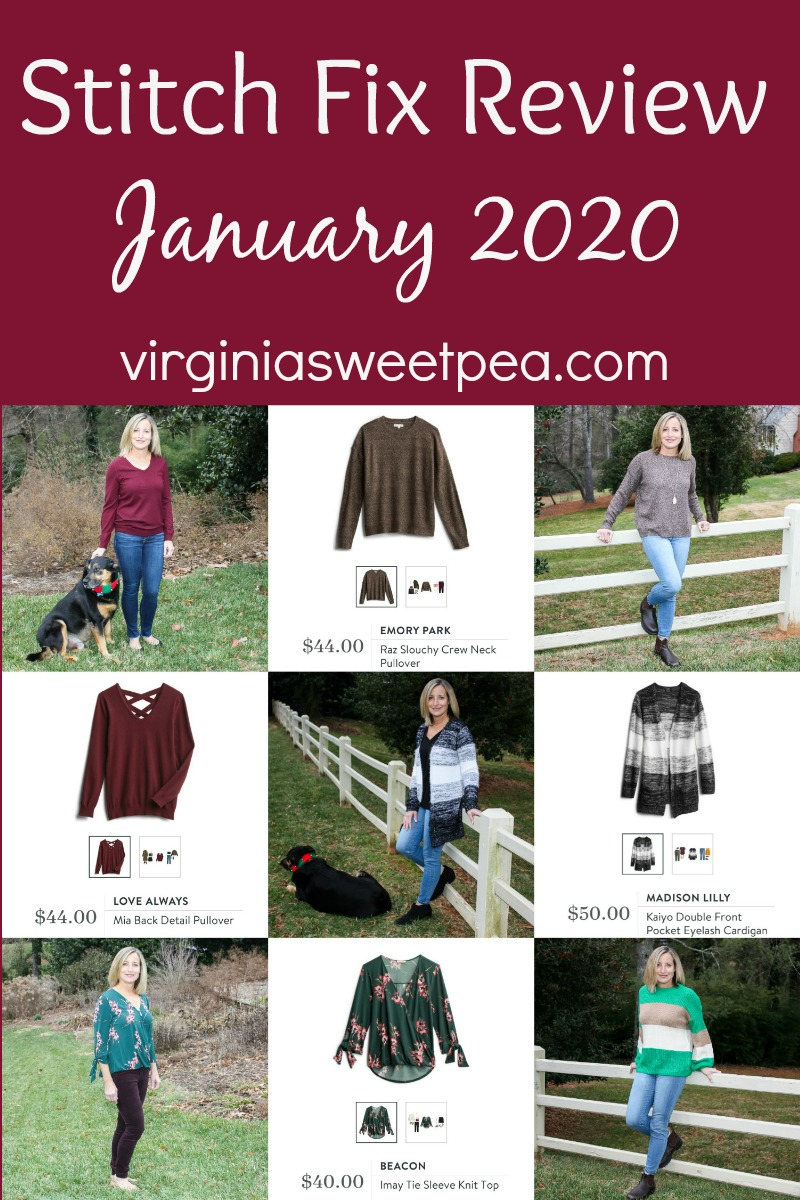 Stitch Fix Review for January 2020 - See the winter styles my stylist picked for January. #stitchfix #stitchfixreview #stitchfixstyle via @spaula
