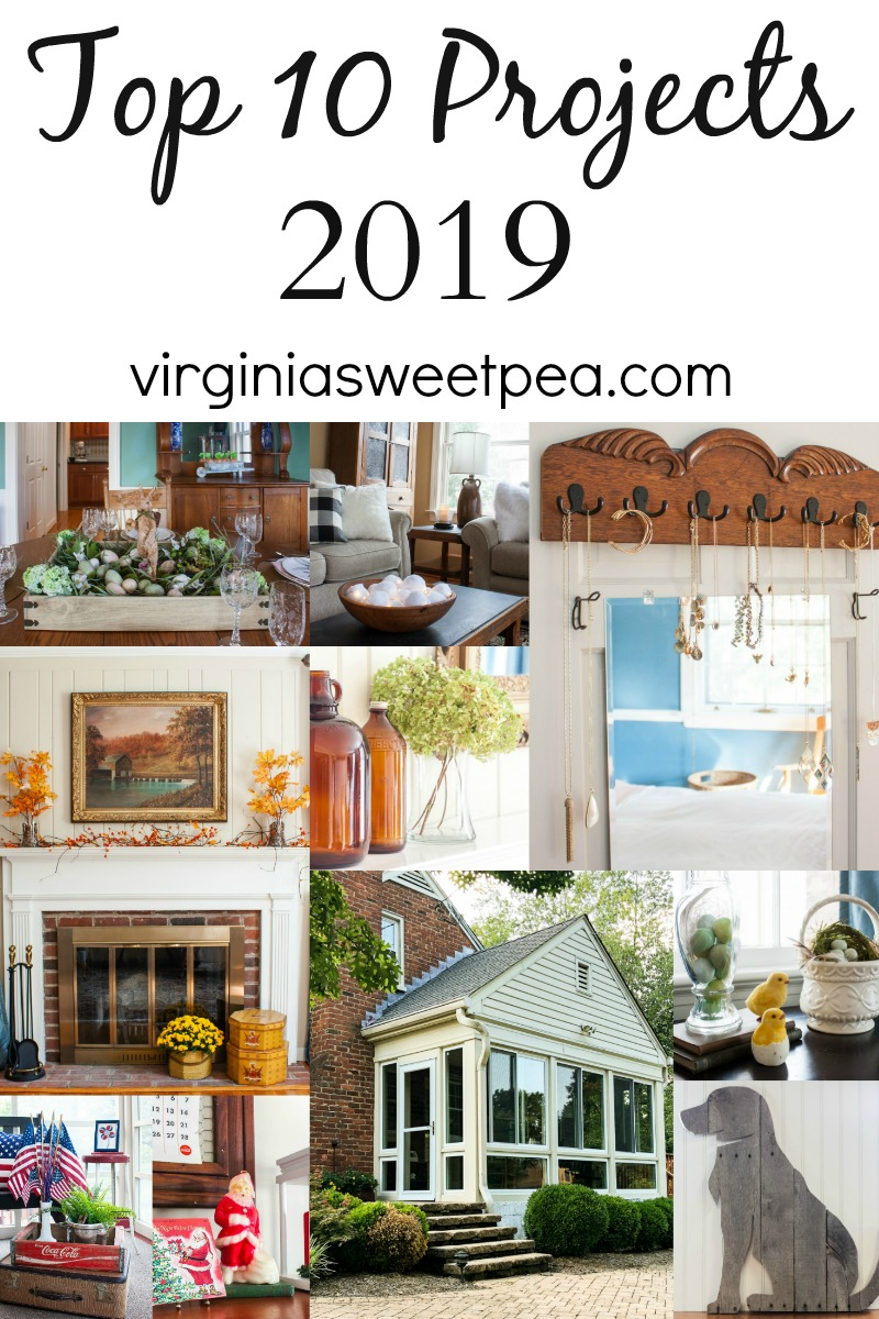 Top ten blog projects for virigniasweetpea.com for 2019