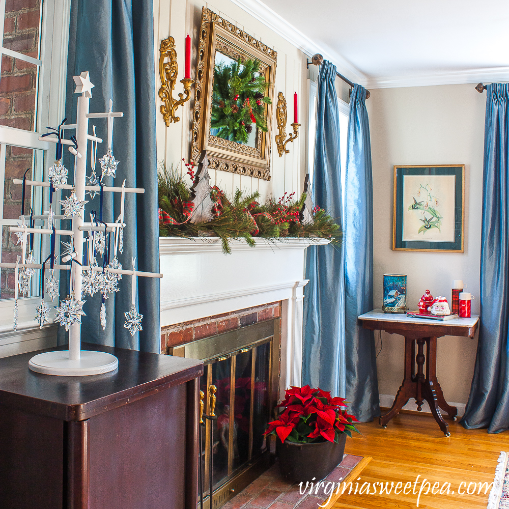 A Very Vintage Christmas in the Formal Living Room - A Family Room is Decorated for Christmas with Vintage