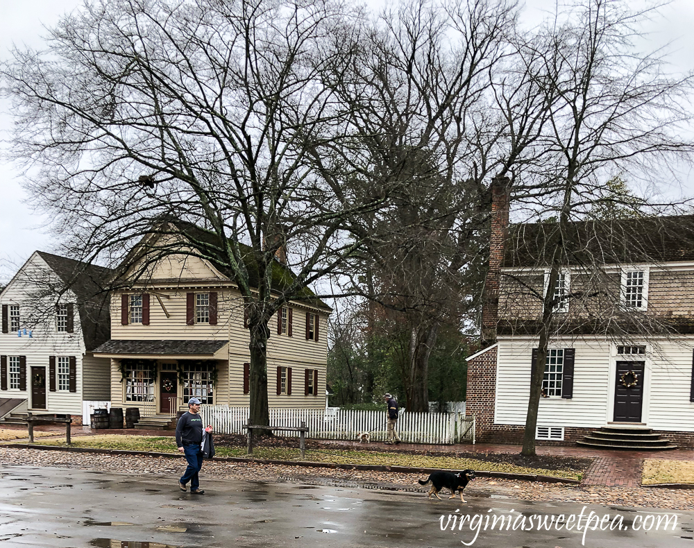 Sherman Skulina walking in Colonial Williamsburg, VA