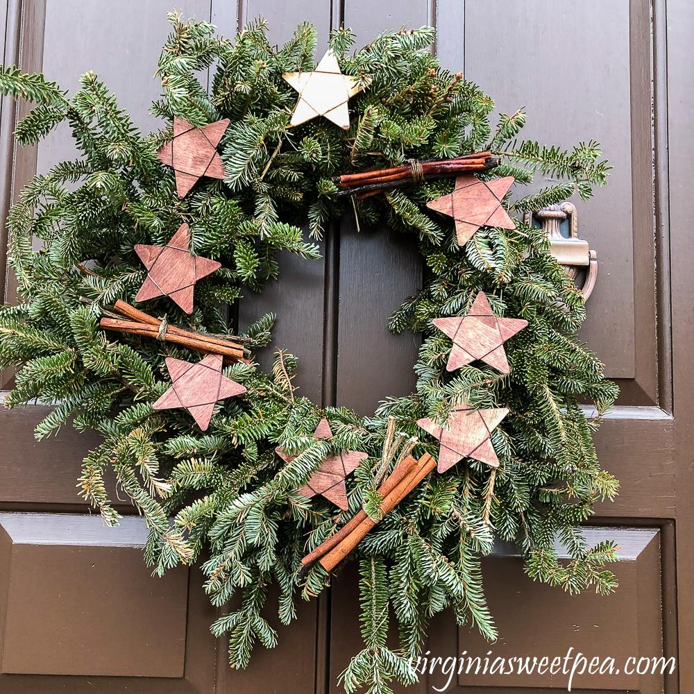 Christmas wreath in Colonial Williamsburg, Virginia.
