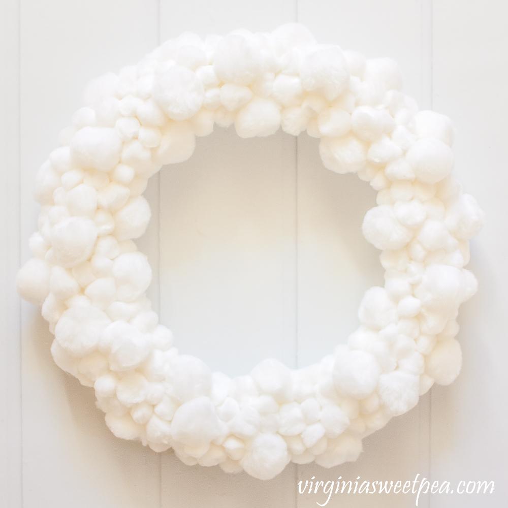 Easy DIY Pom Pom Wreath Made with Pom Poms from the Craft Store