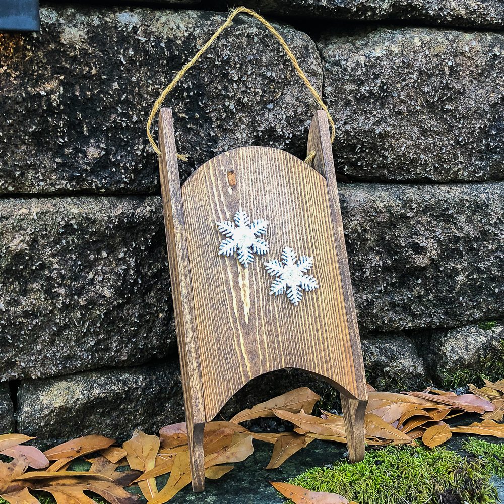 1980s Handmade Wood Sled Makeover