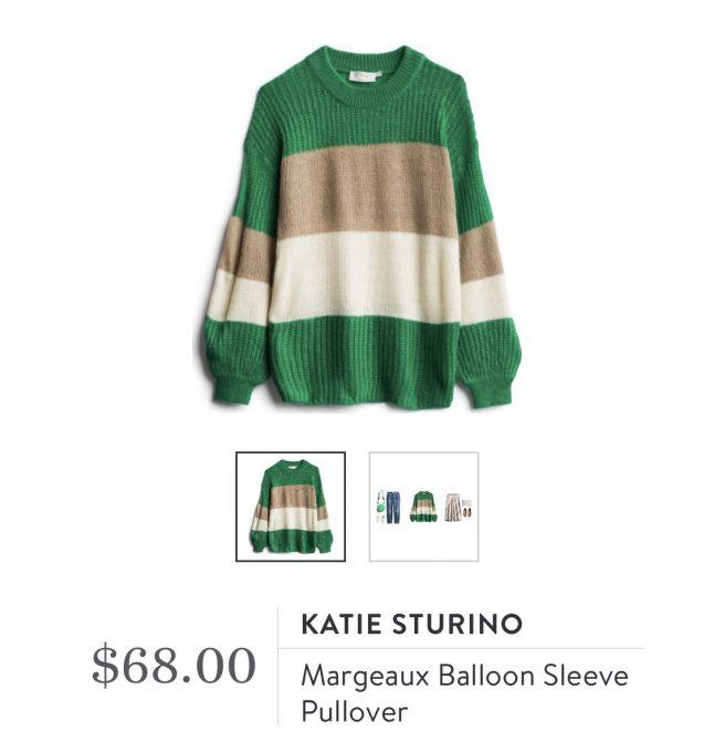 Katie Sturino Margeaux Balloon Sleeve Pullover